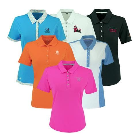Adidas Women's Logo Overrun Polo Shirt Assorted Colors - $9.99 + Free Shipping