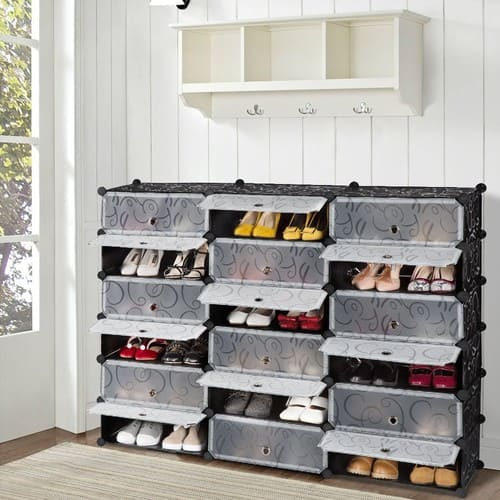 18-Cube Shoe Rack 6 Tier DIY Shoe Storage Organizer for $45.49 AC + FSSS