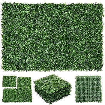 "6 PCS 20"" x 20"" Artificial Boxwood Plants Wall - $37.79+Free Shipping"
