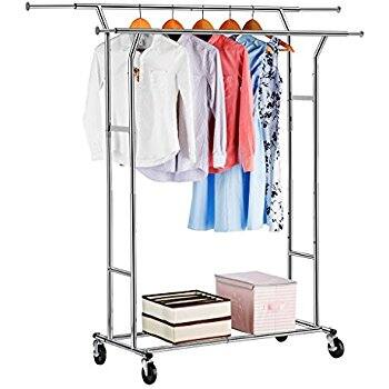 Double Rod and Commercial Grade Garment Rack -$34.29 + Free Shipping