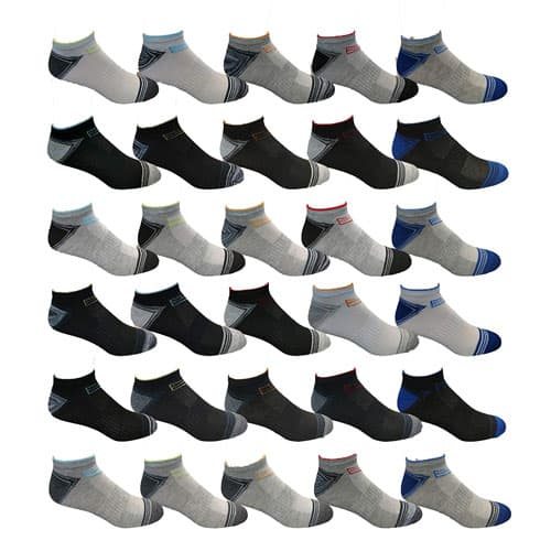 30 Pairs Men's Assorted Low Cut Socks $27.49 + Free Shipping