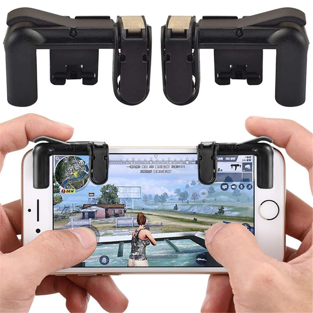 Mobile Phone Gaming Fire Button Trigger L1R1 Shooting Controller 2PCS - Black $1.29 + Free Shipping