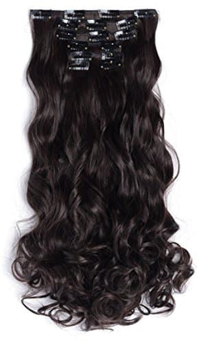 OneDor 20 inch Curly Clip in Synthetic Hair Extensions 7pcs (17 Colors) - $7.69 + Free Shipping w/ Prime