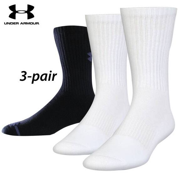 d6f629ab8 3 Pairs Under Armour Crew Socks (L) - $8.96 + Free Shipping - Slickdeals.net