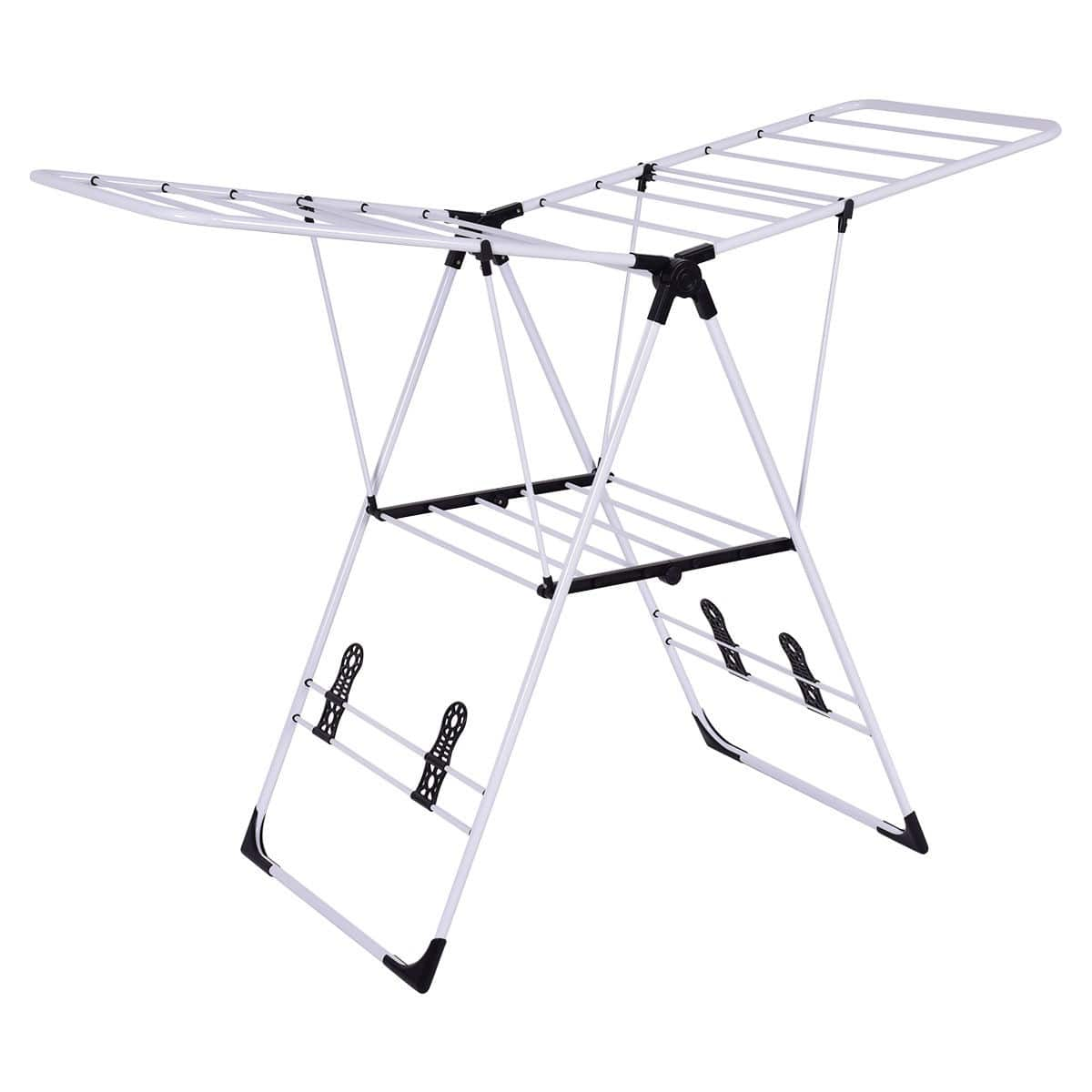 Merveilleux Costway White Portable Folding Laundry Clothes Drying Rack $26.95 + Free  Shipping