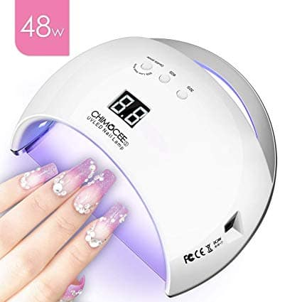 Chimocee 48W LED UV Nail Dryer w/ 4 Timer Setting (White) - $15.39 + Free Shipping