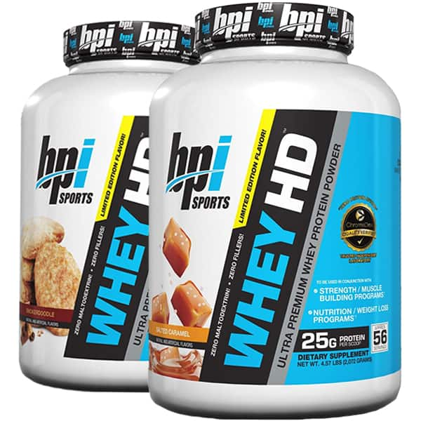 9.14 LBS of BPI Sports WHEY HD Protein for $50.98