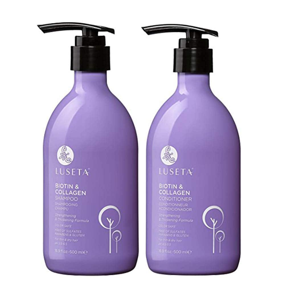 Luseta Biotin & Collagen Shampoo & Conditioner Set 2 x 16.9oz - Thickening for Hair Loss & Fast Hair Growth - Infused with Argan Oil to Repair Damaged Dry Hair $18.86 + FS
