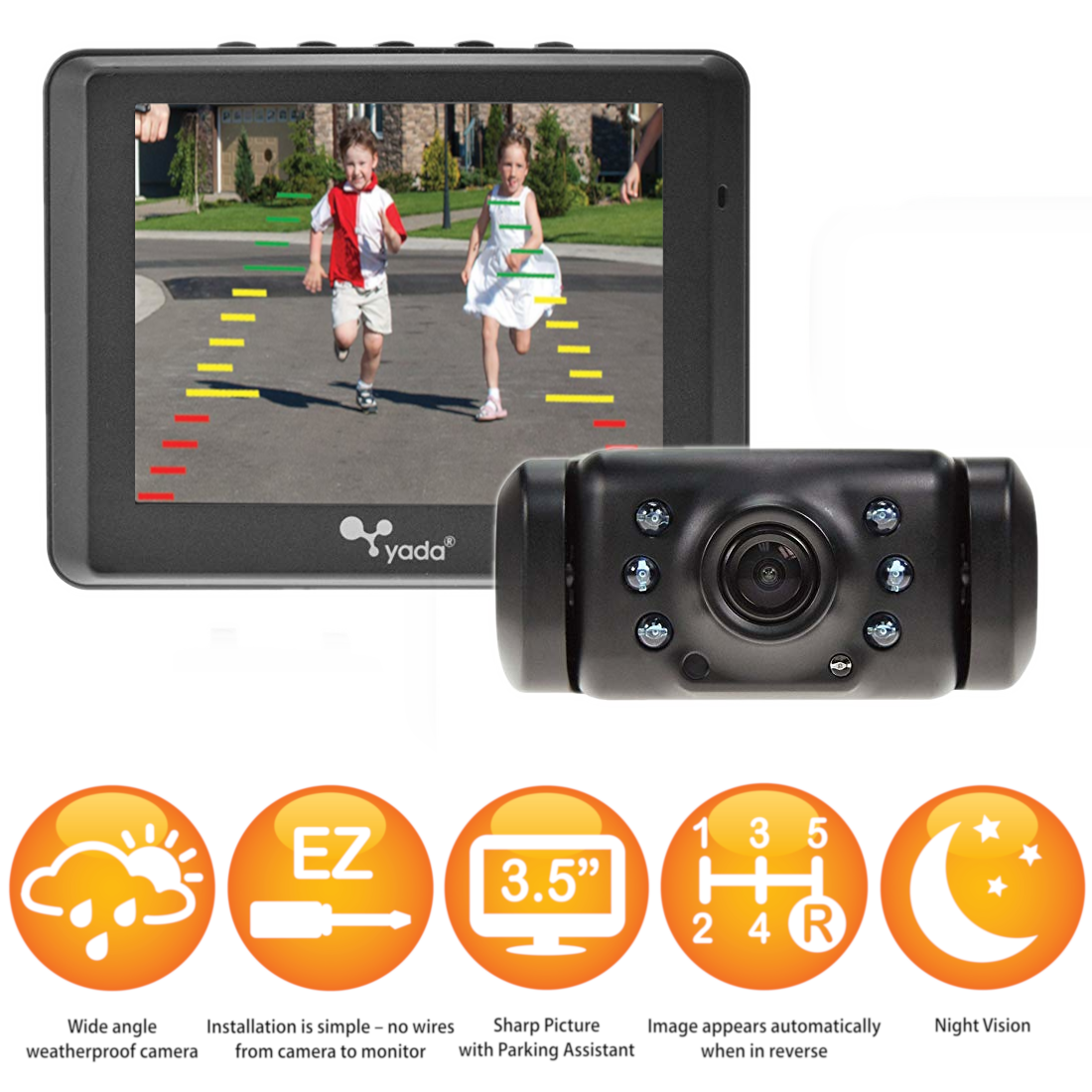 "Yada Wireless Backup Camera with 3.5"" Display $29 Shipped"