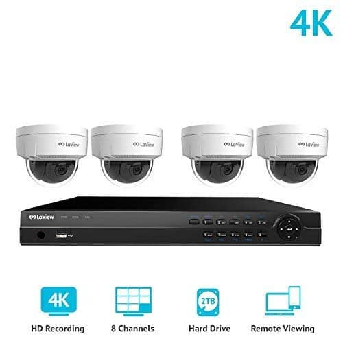LaView 8 Channel Ultra HD 4K PoE IP Home Security Camera System w/ 2TB HDD Storage $497.99 + Free Shipping