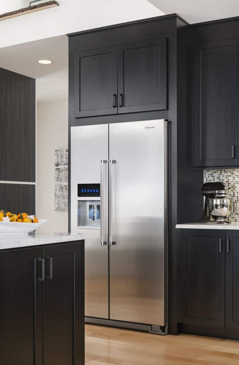"""36"""" KitchenAid KRSC503ESS 22.7 cu ft Stainless Steel Counter Depth Side-by-Side Refrigerator $1645.67 + FS"""