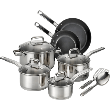 T-Fal Cookware Sets: Stainless Steel 12PC $69, Celebrate Ceramic 14PC $59, Non-Stick 20PC $69 + Free Shipping
