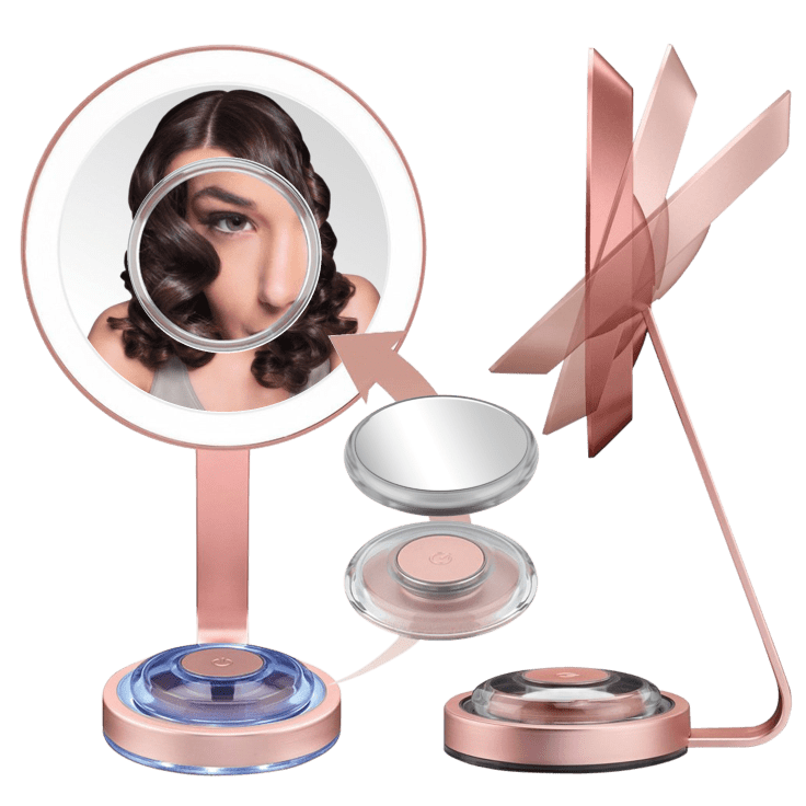 Conair Lifetime LED 1X Makeup Mirror with Magnetic 10X Spot Mirror $20 Shipped
