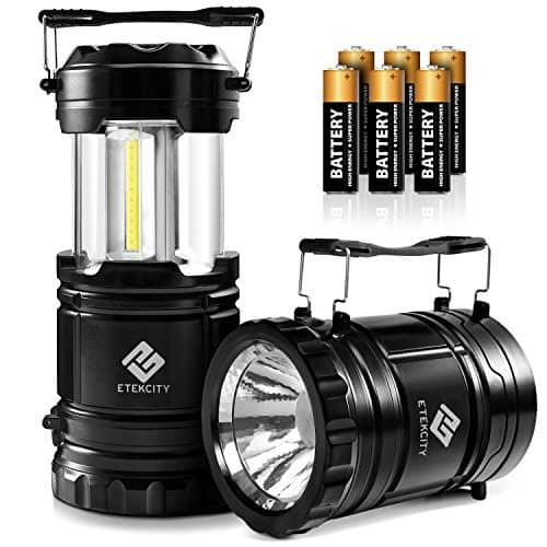 2pk) Portable LED 2-in-1 Lantern/Flashlights (Collapsible Lantern