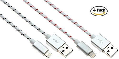 4pk Premium Lightning to USB 3FT (Apple MFi Certified) Braided Cable $12.50 + FSSS