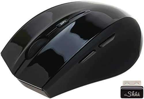 ShhhMouse Wireless Silent Optical Mouse with 3 Adjustable DPI Levels & 5 Buttons for $5.50 + FSSS