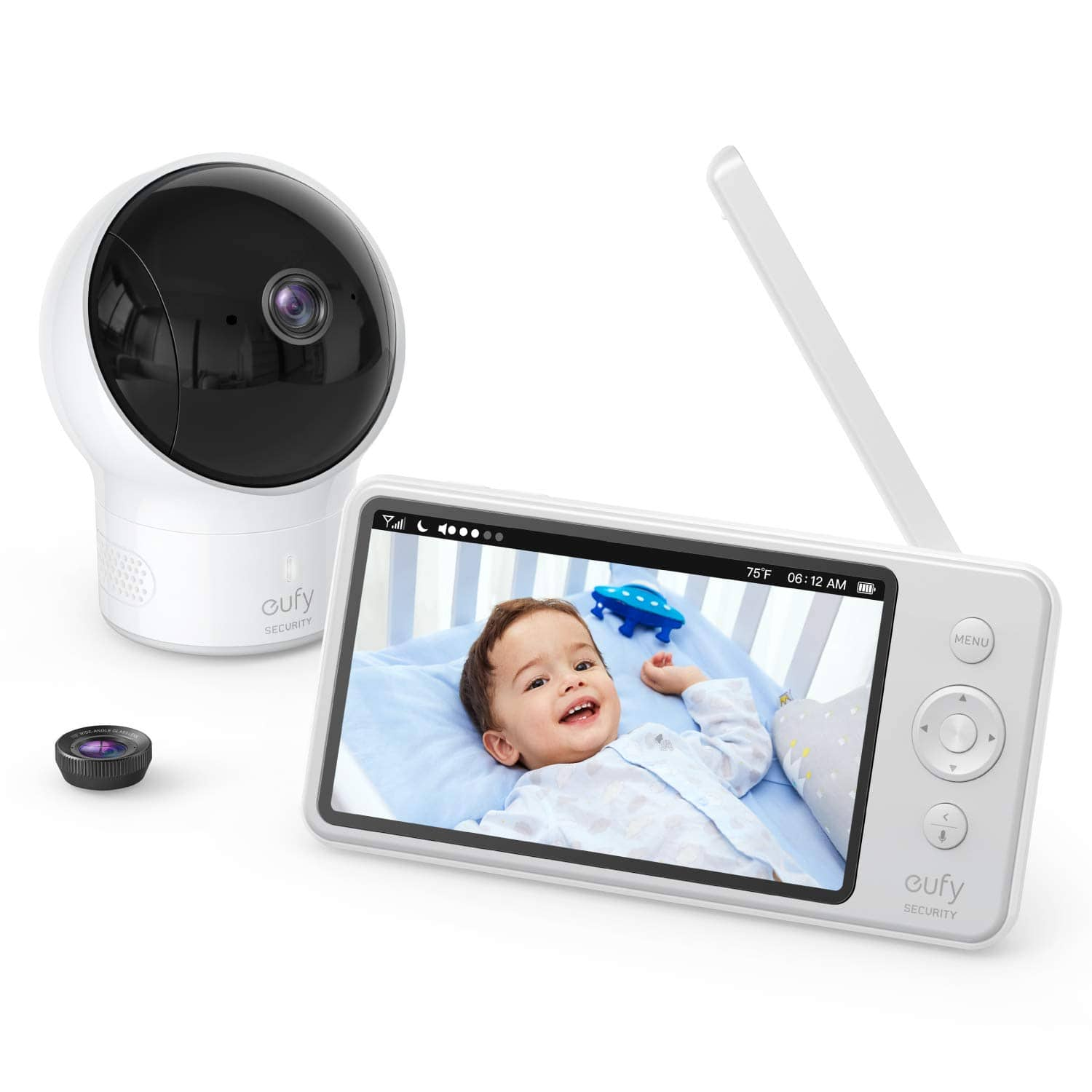 """Eufy Security SpaceView 5"""" LCD Video Baby Monitor w/ 720 HD Resolution - $100.84 + Free Shipping"""