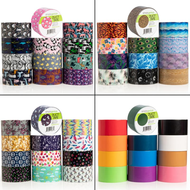 12-Pack Simply Genius Colored Duct Tape for $24 + Free Shipping