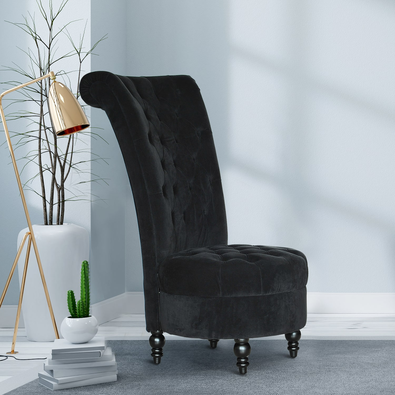 """HomCom 44"""" Tufted High Back Accent Chair- $159.99 + Free Shipping"""