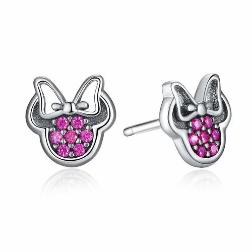 BISAER 925 Sterling Silver Mini Mouse Stud Earrings $7.53 + FSSS