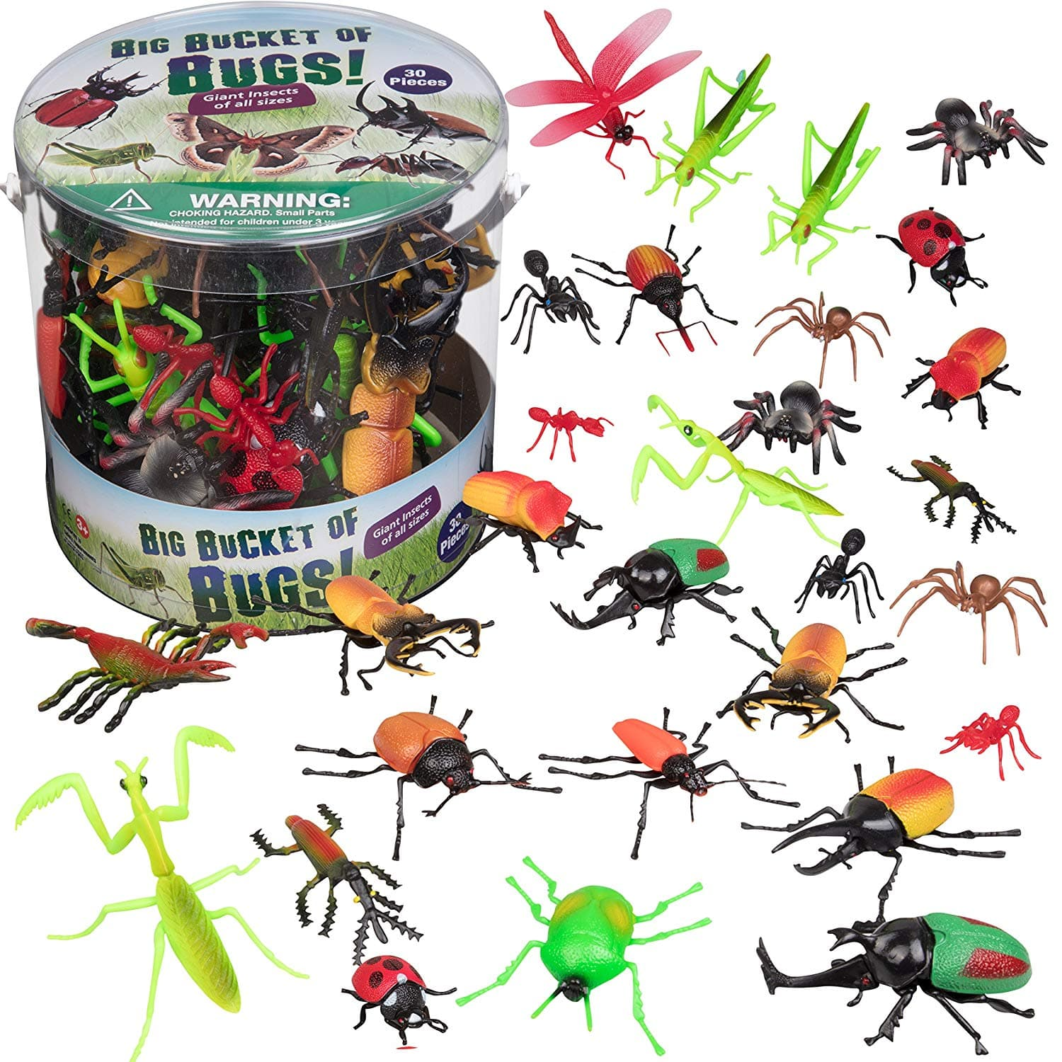 Bug Action Figure - 30 Giant Insects Playset - $11.99 + Free Shipping for Prime Members