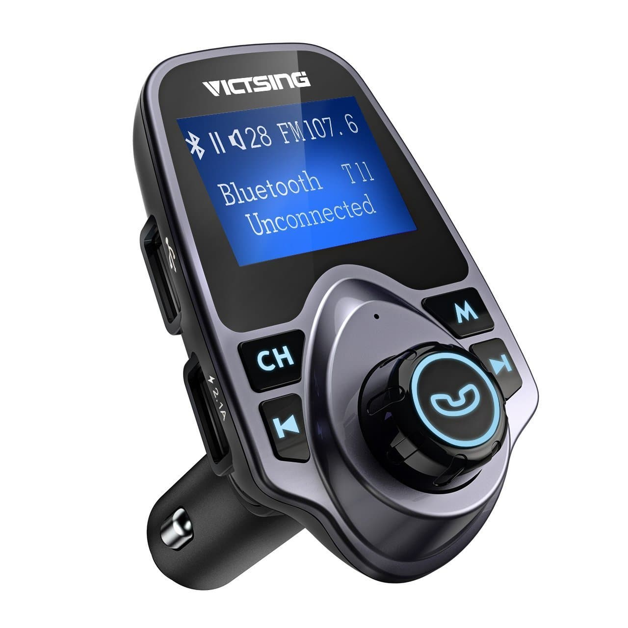 "VicTsing Bluetooth FM Transmitter for Car, Wireless Bluetooth, 1.44"" LCD Display - $8.99 + FSSS"