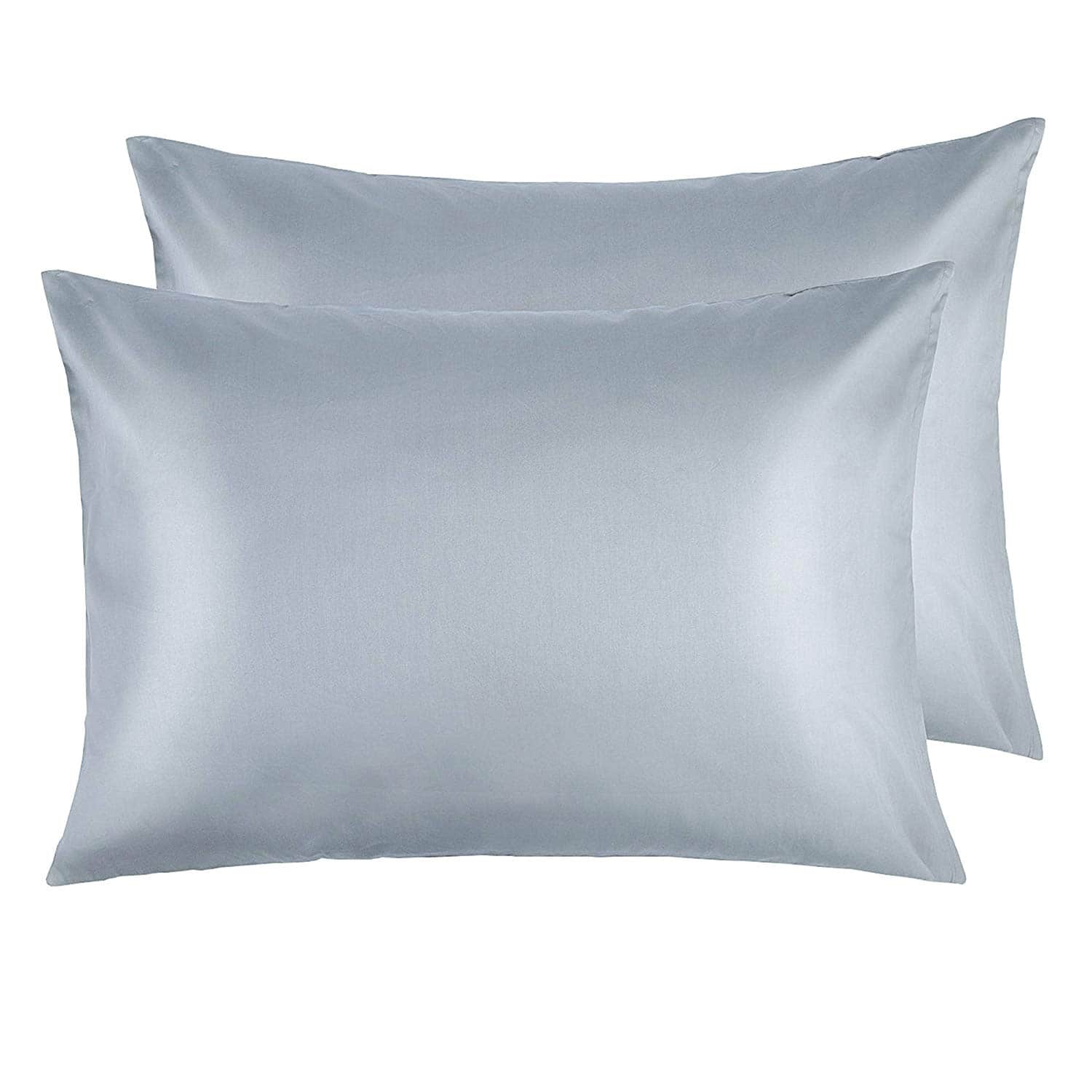 NTBAY Zippered Satin Standard Pillowcases 20 x 26 Inches, Grey  $7.99 + FSSS