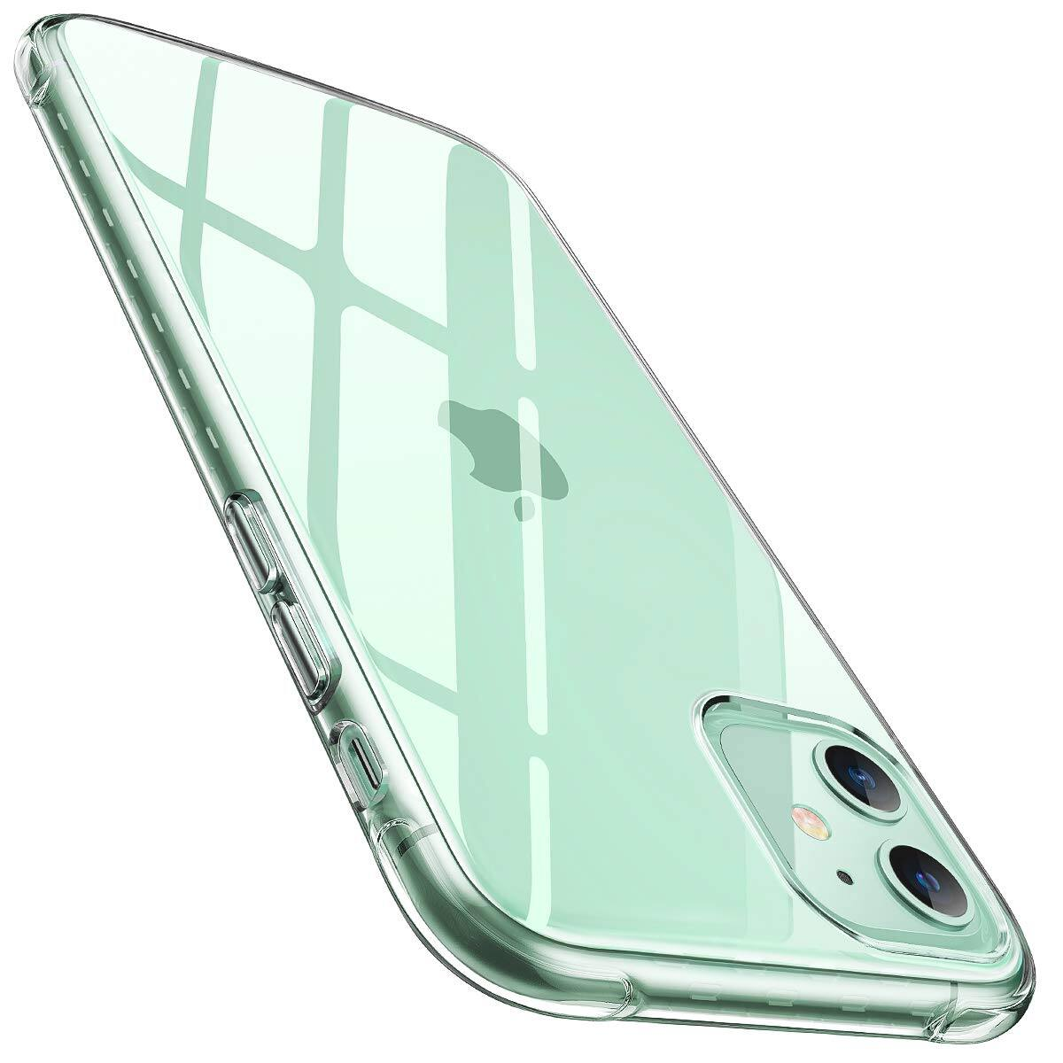 AINOPE iPhone 11 (Cyrstal Clear, Anti-Drop, Soft Sillicone TPU) Phone Case for $4.94 + FSSS