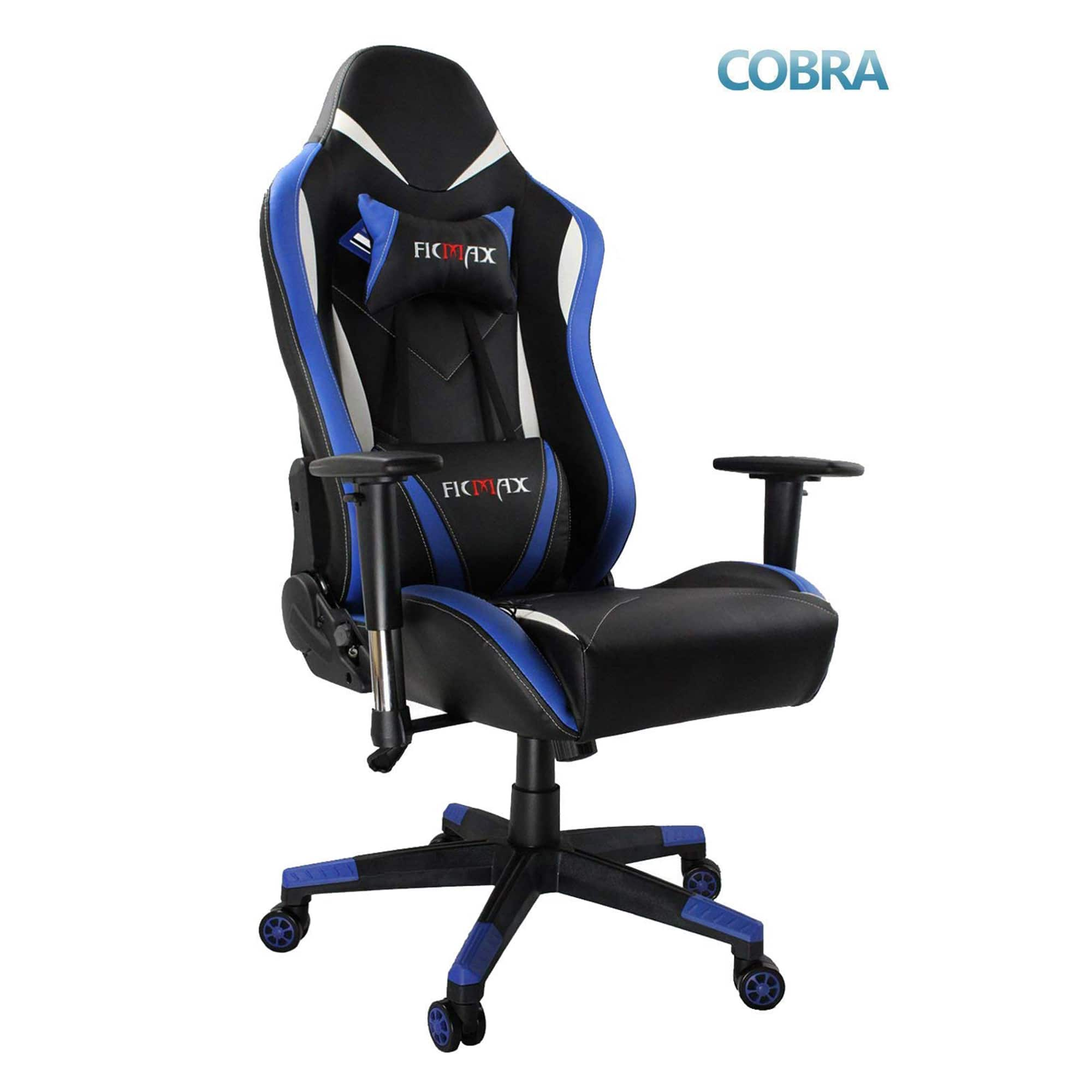 Ficmax Racing Style Gaming Chair with Massage Lumbar Support and Headrest Pillow - $85.99 + Free Shipping