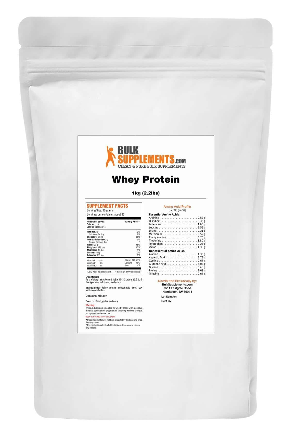 Whey Protein 5kg (11lbs) Unflavored - $49.96 w/ Free Shipping