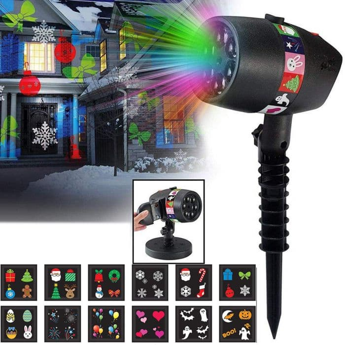 Slide Show LED Projector with 12 Holiday Slides $14 + Free S/H on $29+