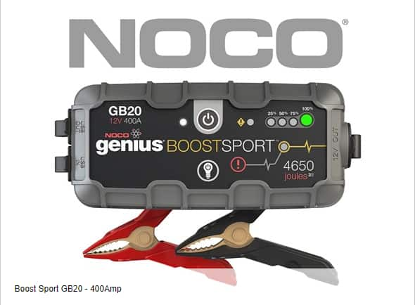 NOCO Genius Boost UltraSafe Lithium Jump Starters GB20 400A for $59.99 and GB50 1500A for $119.99 + Free Shipping for Prime Members