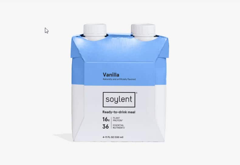 Soylent 4 Pack Vanilla/Cacao flavor $10.99 + Free Shipping Over $20