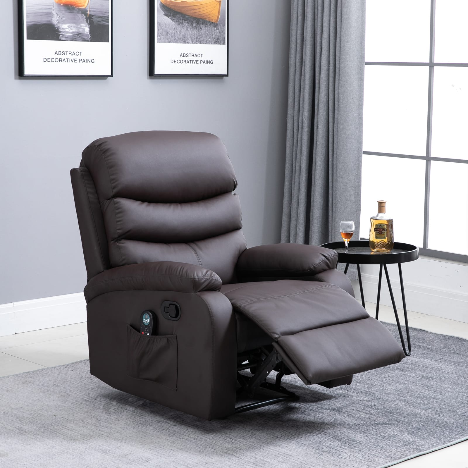 HOMCOM Massage Recliner Chair with Heat and 8 Massaging Points - $249.99 + Free Shipping