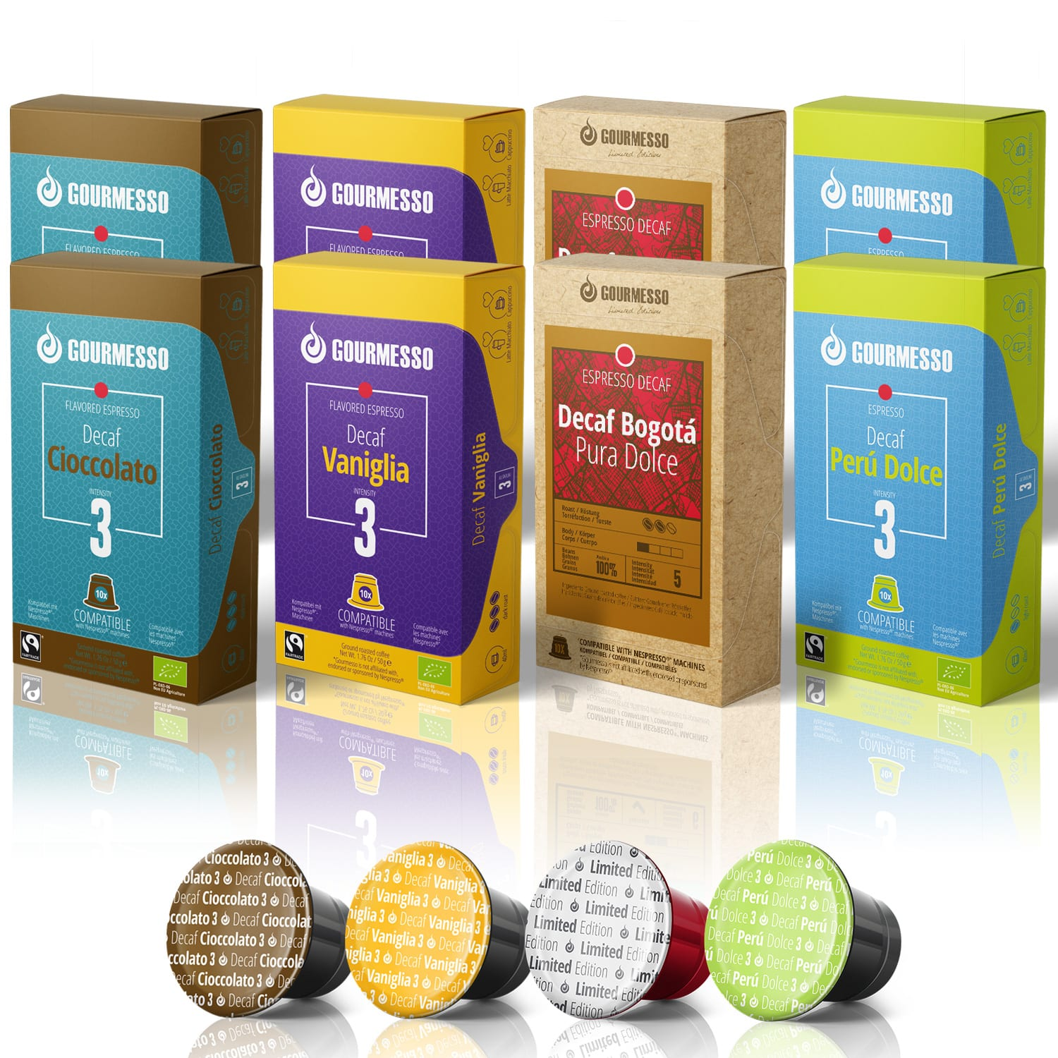 Gourmesso- 120 Fairtrade Nespresso Compatible Decaf Pods $38.50 + FS