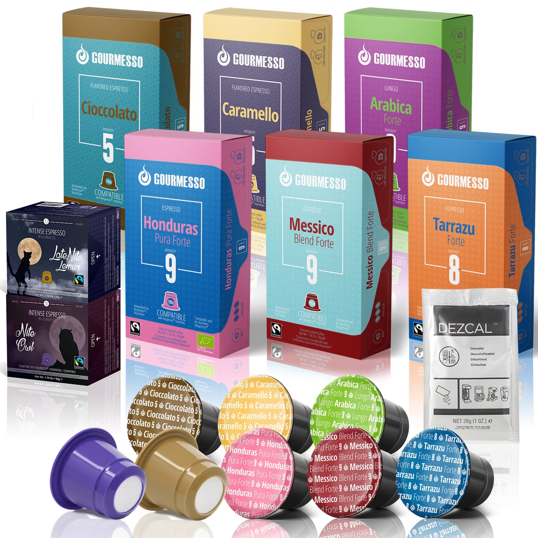 Gourmesso- 80 Fairtrade Nespresso Compatible Pods for 29.00 + Descaler + Free Shipping