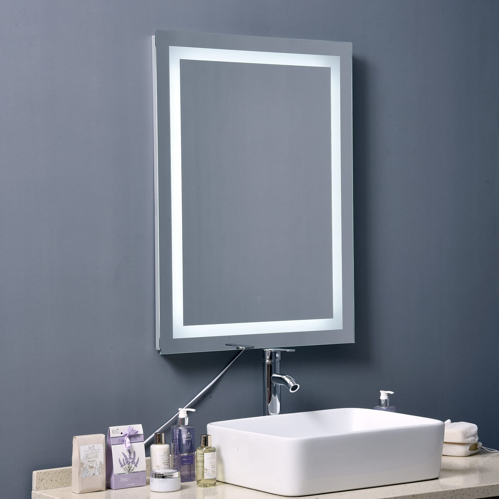 "HomCom 32"" LED Bathroom Wall Mirror with Defogger - $69.99 + Free Shipping"
