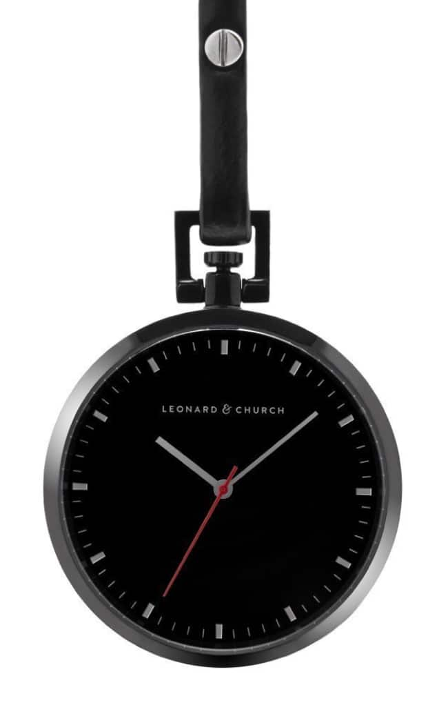 Leonard and Church: 70% Off Prospect Minimalist Pocket Watch with Swiss Movement Set & Sapphire Crystal Lens for $87.75 + Free Shipping