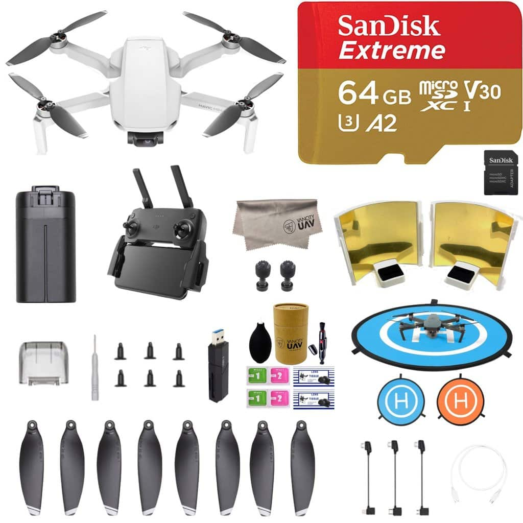 (Pre-Order) DJI Mavic Mini with Sandisk 64GB Micro SD, Landing Pad, Signal Booster No Tax Out of WA for $399.99 + Free Shipping