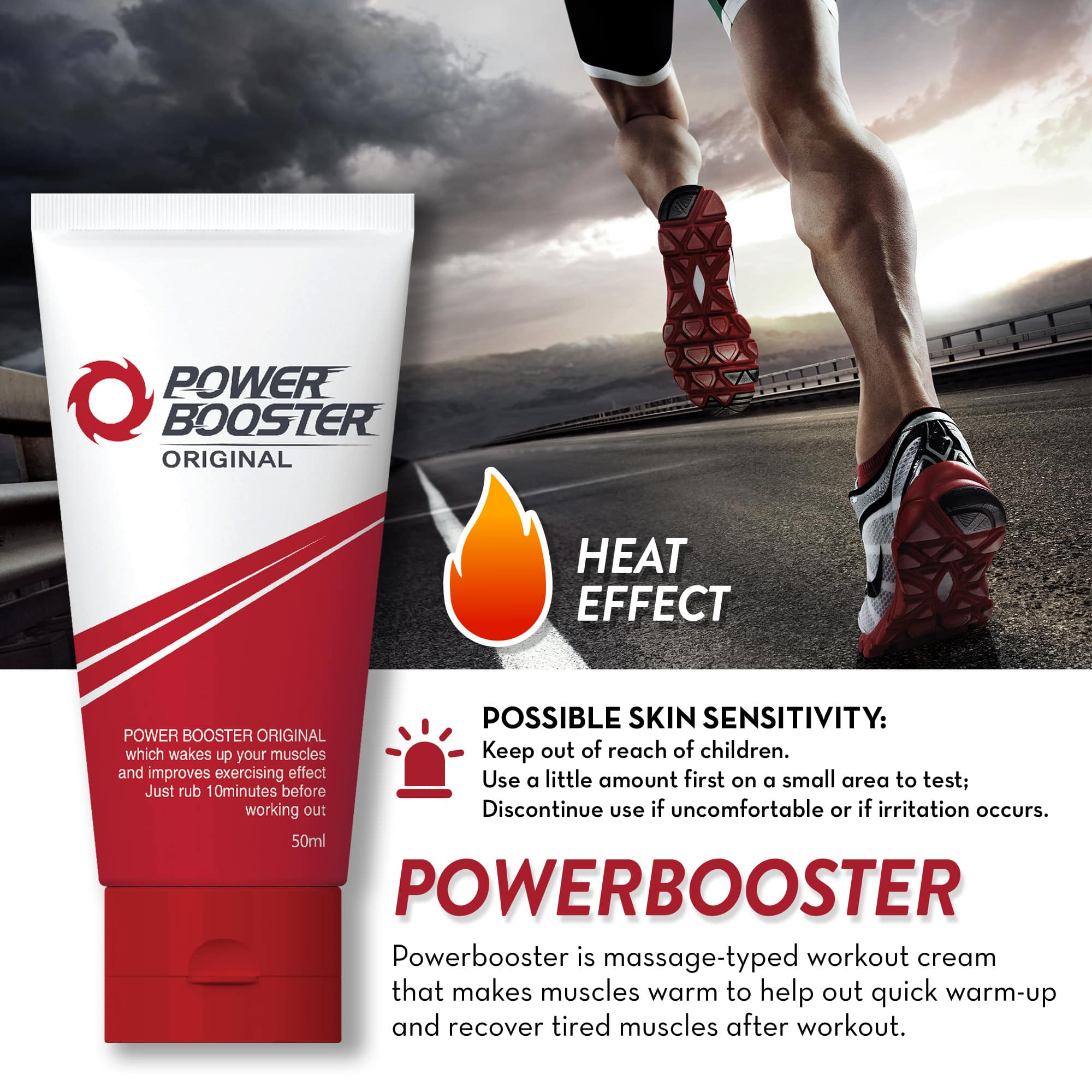 70% OFF POWERBOOSTER Muscle and Workout Enhancer Creams $7.46 + FSSS