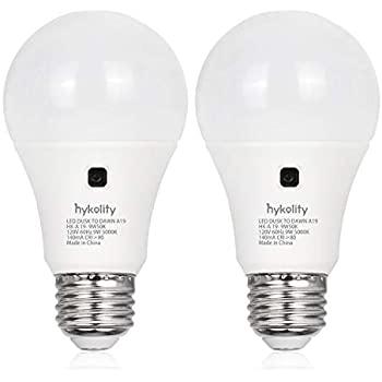 2 Pack 9W (60W Equivalent ) Dusk-to-Dawn LED Light Bulb 3000K/5000K - $4.99 + FSSS