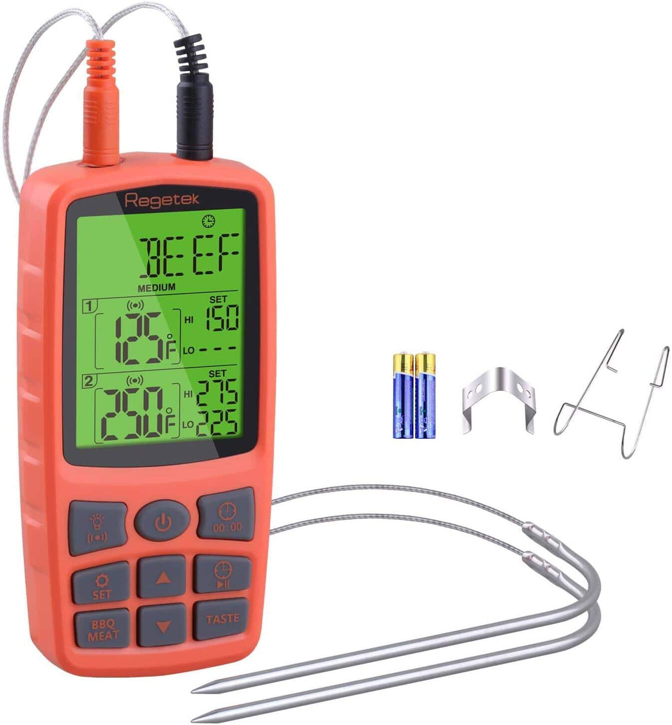 Regetek Wired Food Thermometer w/ Dual Probe for $12.99 + Free Shipping