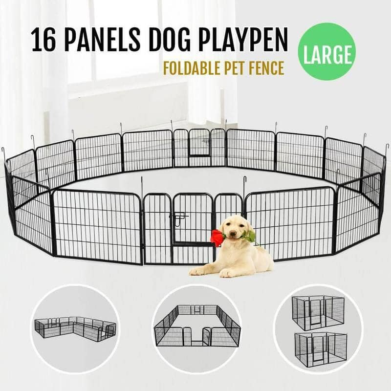 Yaheetech Dog Playpen (16 Panels 24 Inch) $114 + Free Shipping