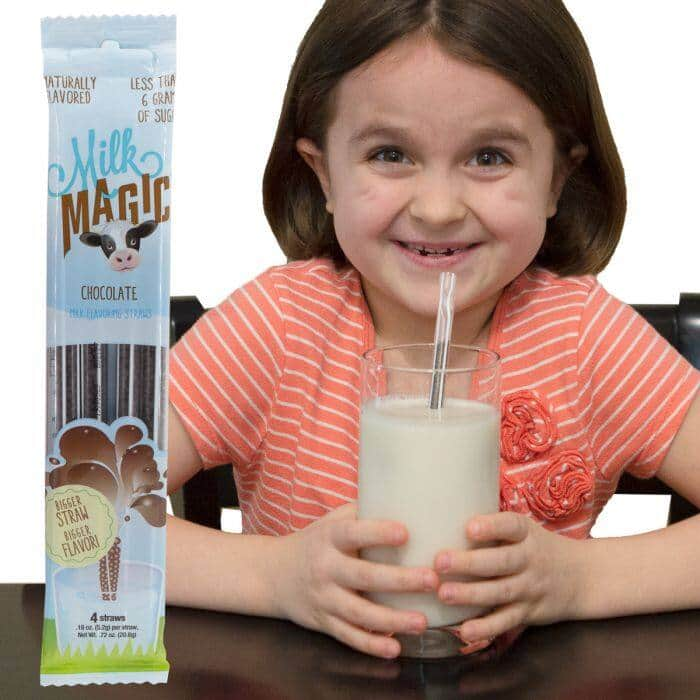 40ct Milk Magic Flavored Drink Straws $12 + Free Shipping