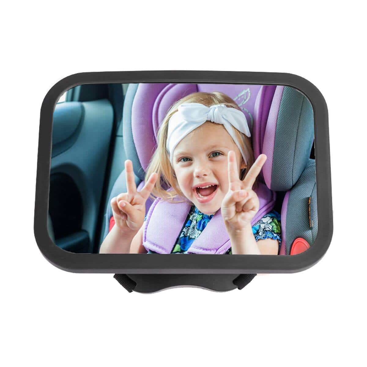 CANOPUS Baby Rear Facing Car Mirror (Wide Crystal Clear View, Shatterproof Glass and Fully Assembled) $9.59 + FSSS