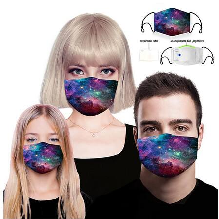 Polyester/Spandex Face Mask with Filter For Adults/Kids (35 Patterns) $5.99 + Free S/H Orders $23+