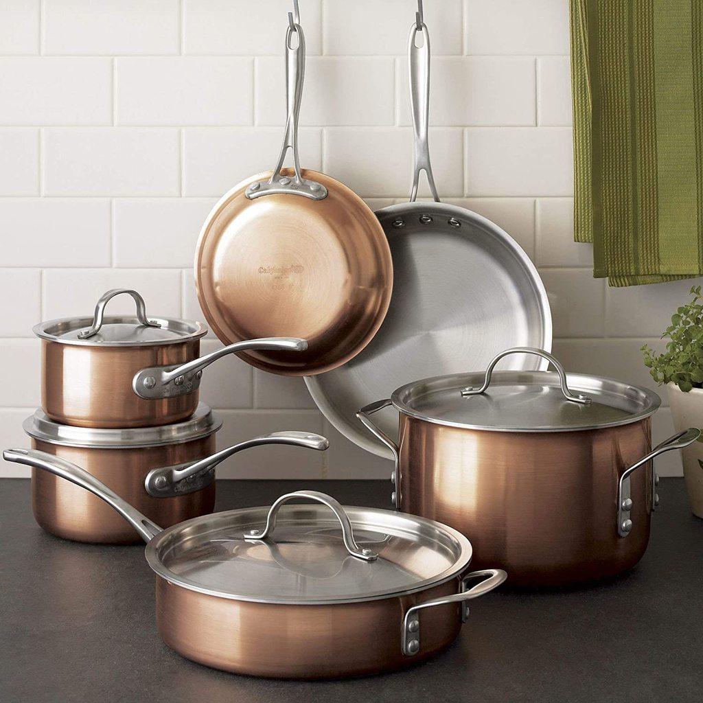 Calphalon T10 Copper Tri-Ply 10-pc. Cookware Set $149.99 + Free Shipping