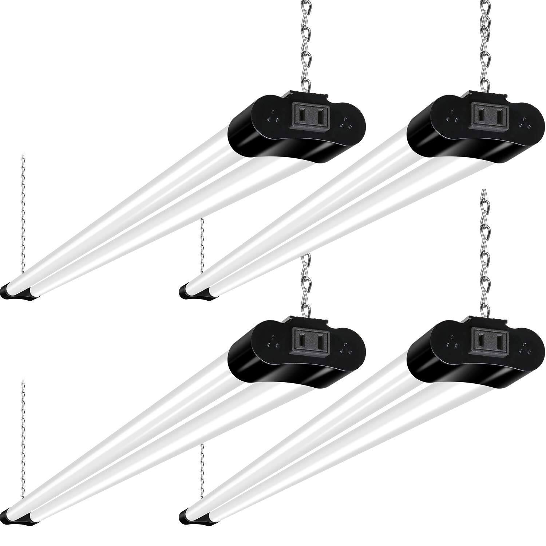 4 Pk 4FT Linkable LED Shop Light 36W (250W Equivalent) in 5000K Daylight for $39.59 + FS