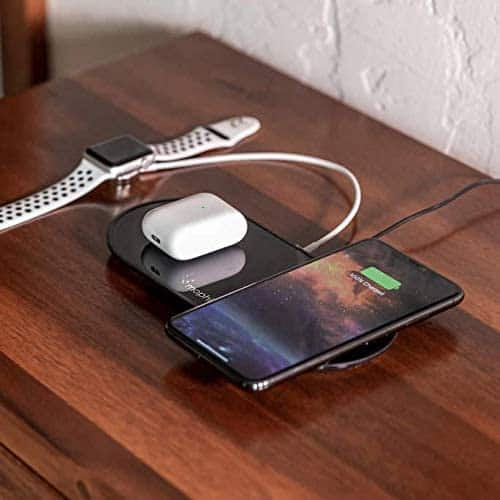 Amazon Renewed mophie Dual Wireless Charger (Qi-Certified) 7.5W for $13.97 and 10W for $15.97 + Free Shipping w/ Prime