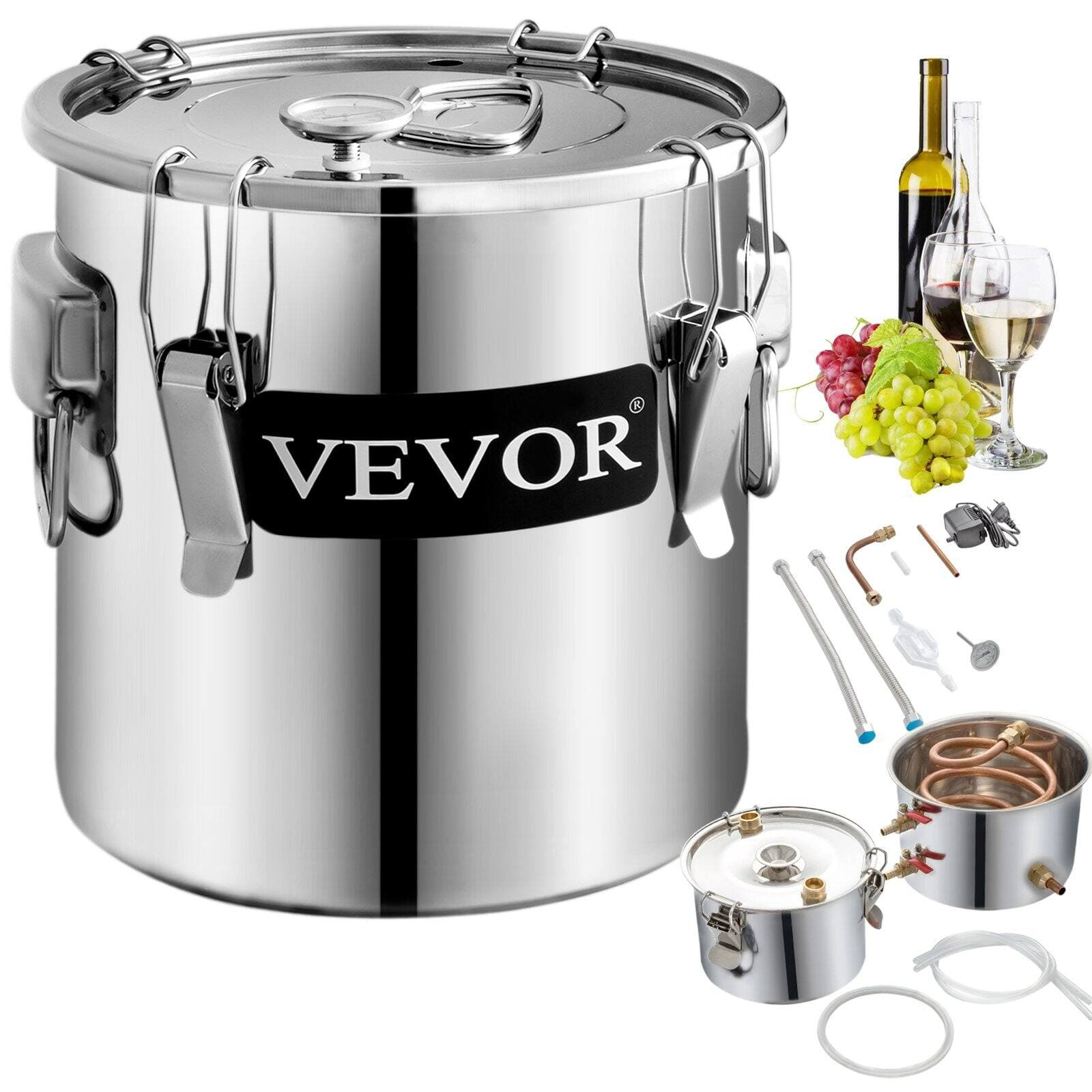 VEVOR 3 Pot 3 Gallon Stainless Still Boiler (Water ,Wine, Moonshine) 79.90  + Free Shipping